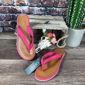 Ralph Lauren Sandals Pink Flip Flop Thong New